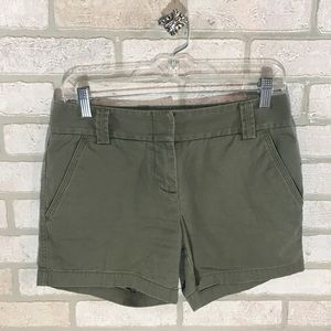 J. Crew Olive City Fit Chino Shorts